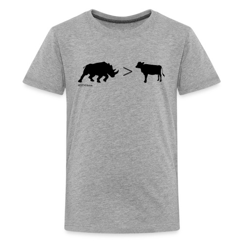 RhinoGTCow BlackTransparent - Kids' Premium T-Shirt