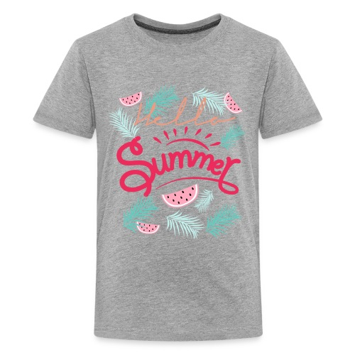 Hello Summer watermelon T-Shirt - Kids' Premium T-Shirt