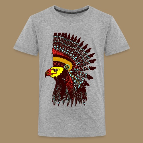 Tribal Eagle Totem with Headdress - Kids' Premium T-Shirt