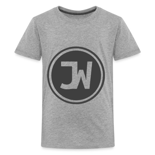 Grey Johannes With Logo - Kids' Premium T-Shirt