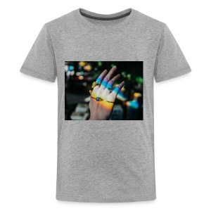 COLOR MY WORLD WITH MY HEART IN YOUR HAND X - Kids' Premium T-Shirt