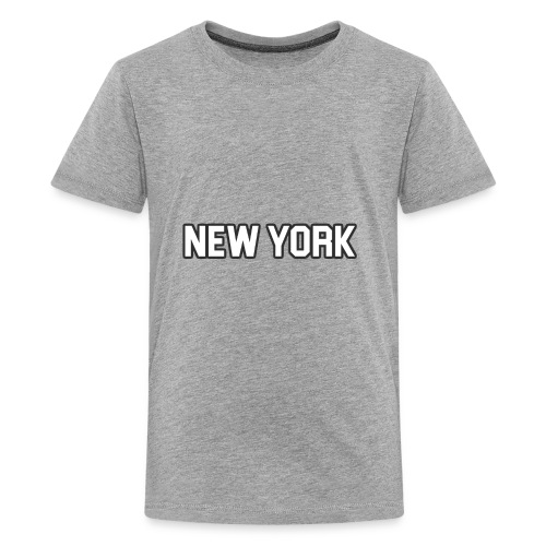 New York Yankee - White - Kids' Premium T-Shirt