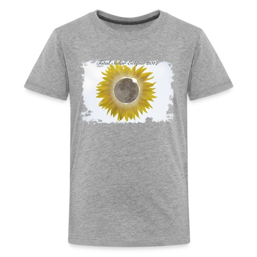 Total Sunflower Eclipse Design 1 - Kids' Premium T-Shirt