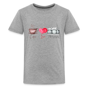 Coffee Love and Photography - Kids' Premium T-Shirt