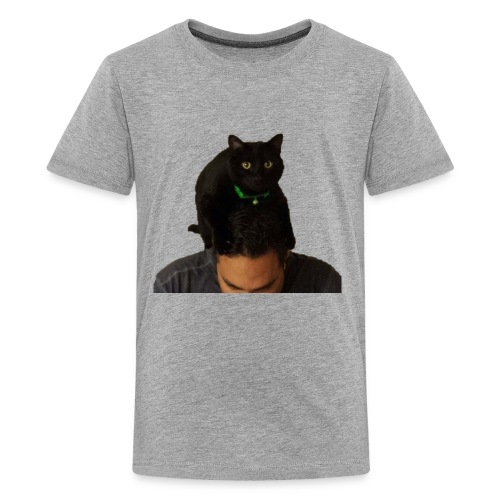 cat hat 2 cutout big - Kids' Premium T-Shirt