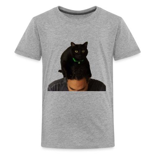 cat hat 2 cutout big - Kids' Premium T-Shirt