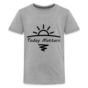 Today Matters Logo - Black - Kids' Premium T-Shirt