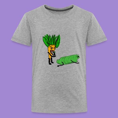 carrot eating a cucumber - Kids' Premium T-Shirt