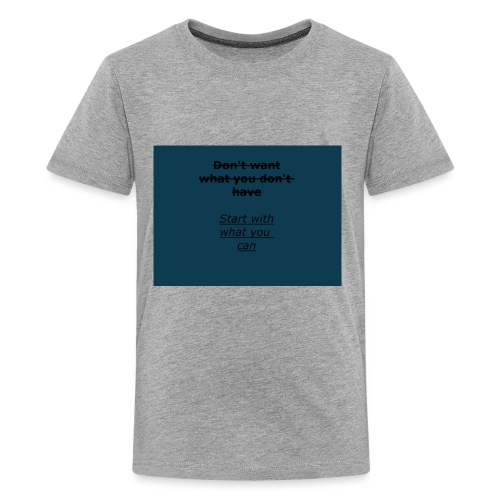 inspiring start (important message to deliver) - Kids' Premium T-Shirt