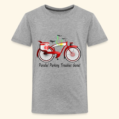 Parallel Parking Troubles Eliminated by Bicycle - Kids' Premium T-Shirt