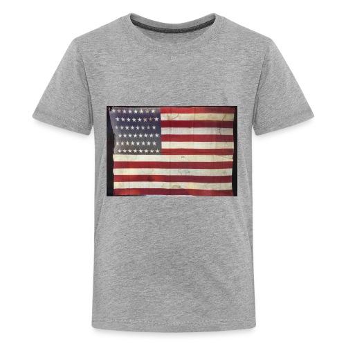 Distressed American Flag - Kids' Premium T-Shirt