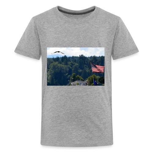 Flag and Eagle - Kids' Premium T-Shirt