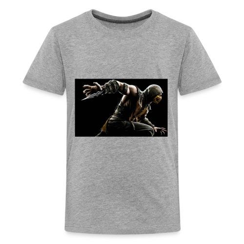 mortal kombat x scorpion wide - Kids' Premium T-Shirt