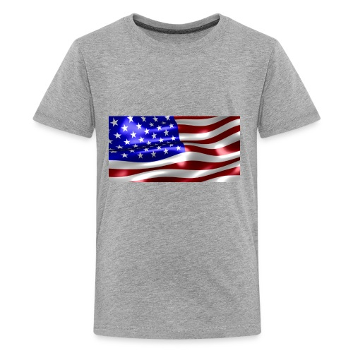 USA Flag - Kids' Premium T-Shirt