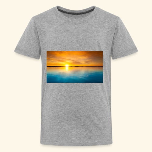 Sunrise over water - Kids' Premium T-Shirt