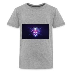 wolf colorful minimalism 2048x1152 - Kids' Premium T-Shirt