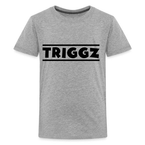Triggz s Shirt Logo Black with Lines - Kids' Premium T-Shirt