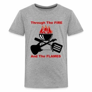 Fire and Flames BBQ - Kids' Premium T-Shirt