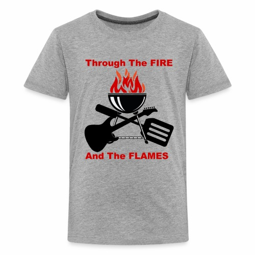 Fire and Flames BBQ - Kids' Premium T-Shirt