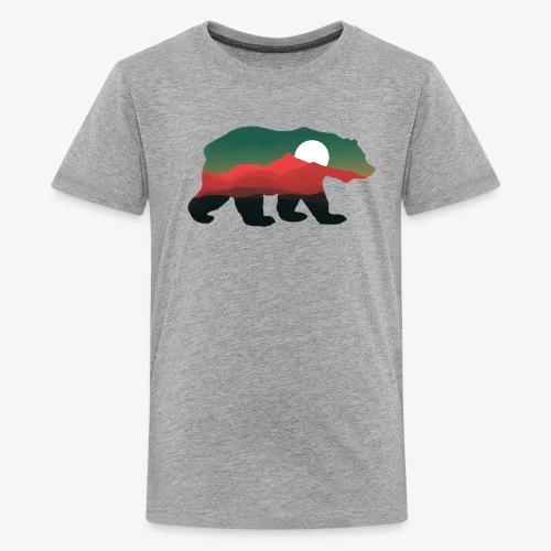 Bear, mountain inside of bear - Kids' Premium T-Shirt