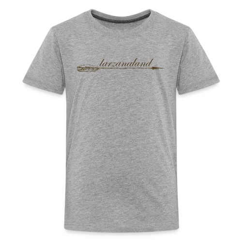 tarzanaland logo custom brown design - Kids' Premium T-Shirt