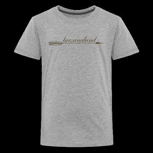 tarzanaland logo custom brown design - Kids' Premium T-Shirt