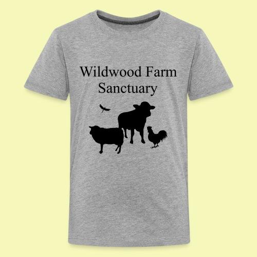 A2 black text2path - Kids' Premium T-Shirt