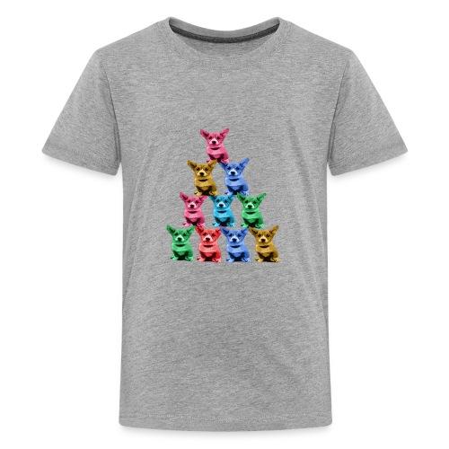Corgi Dog Funny Pyramid - Kids' Premium T-Shirt