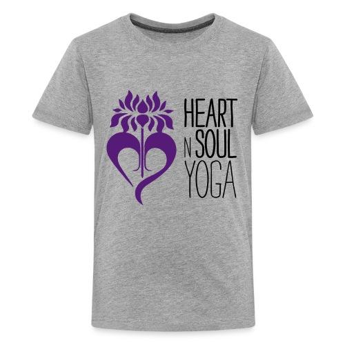 HeartNSoulYoga Logo Stacked - Kids' Premium T-Shirt