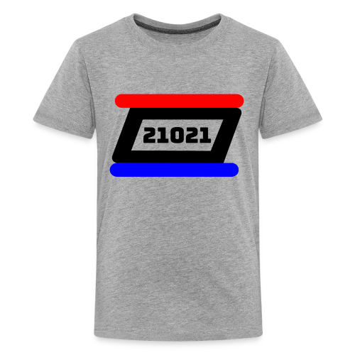 21021 Black White Red - Kids' Premium T-Shirt