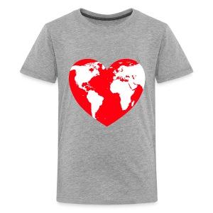 HEART LOVE PLANET MOTHER EARTH - Kids' Premium T-Shirt