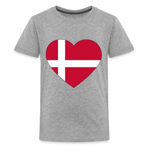 heart denmark flag worldchampionship 2018 - Kids' Premium T-Shirt