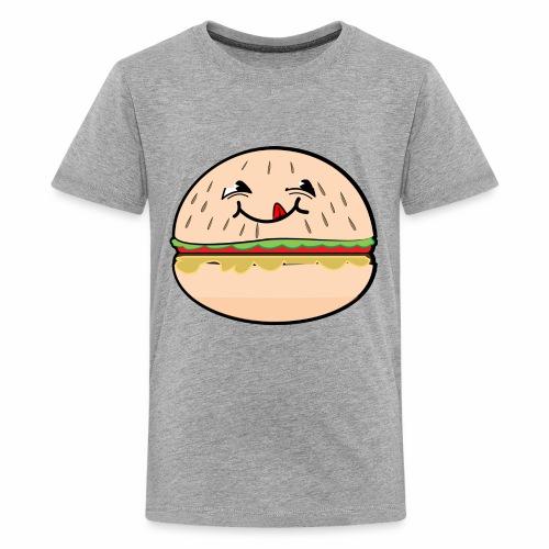 Mmmmm Burger Face Shirt - Kids' Premium T-Shirt