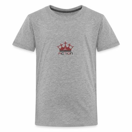 Lit Action Red Crown - Kids' Premium T-Shirt