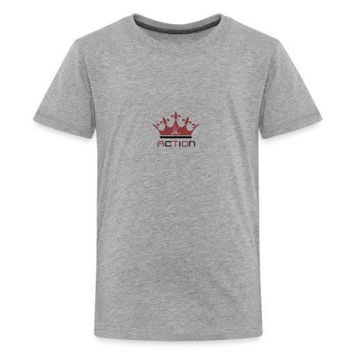Lit Action Red Crown - Kids' Premium T-Shirt