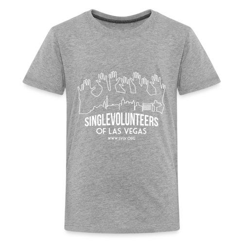 White logo SVLV - Kids' Premium T-Shirt