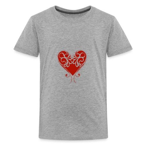 A Splash of Love Heart Design Baby One Piece - Kids' Premium T-Shirt