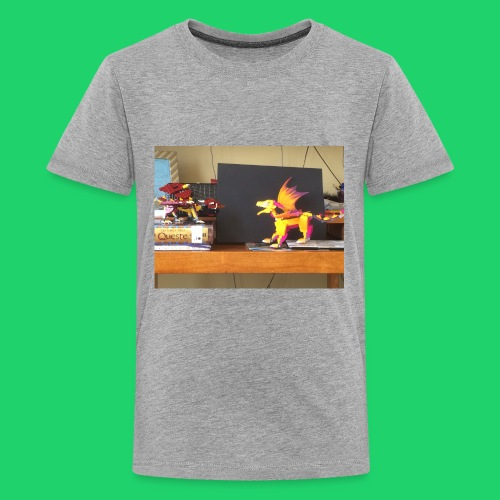 Fire dragon battle - Kids' Premium T-Shirt