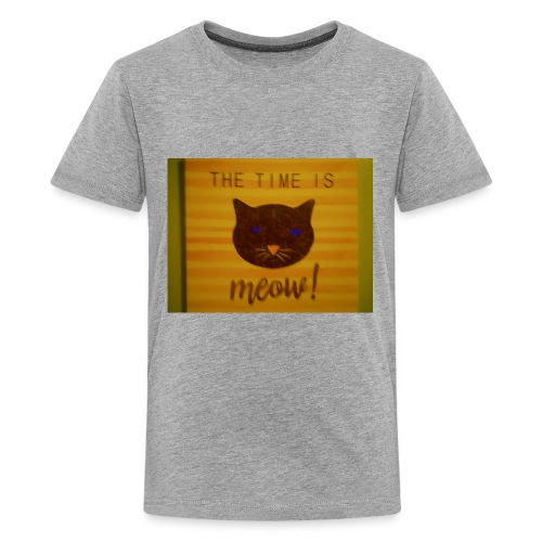 The time is meow - Kids' Premium T-Shirt