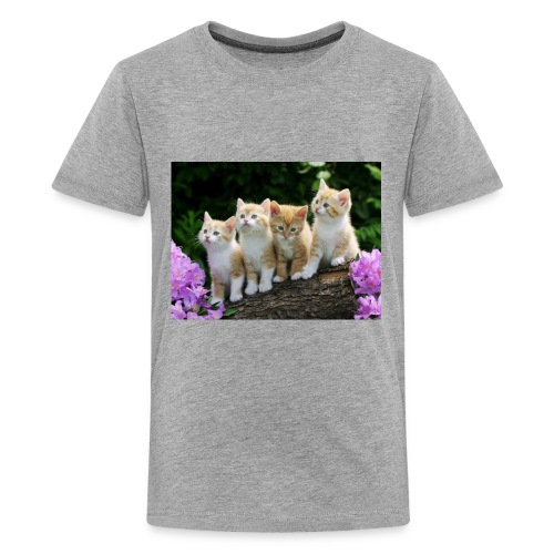 hd free pics of cats and kittens - Kids' Premium T-Shirt