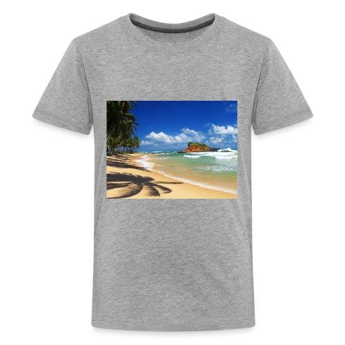 Beach with palm trees, Sri Lanka - Kids' Premium T-Shirt
