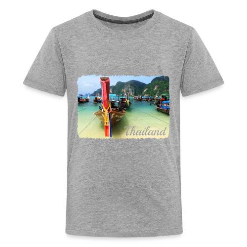Thailand, Longtail Boats - Kids' Premium T-Shirt