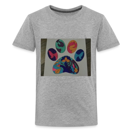 The rainbow pawprint - Kids' Premium T-Shirt