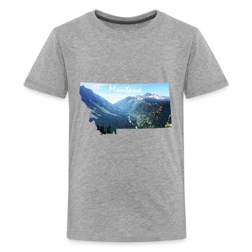Montana Watercolor Mountains - Kids' Premium T-Shirt