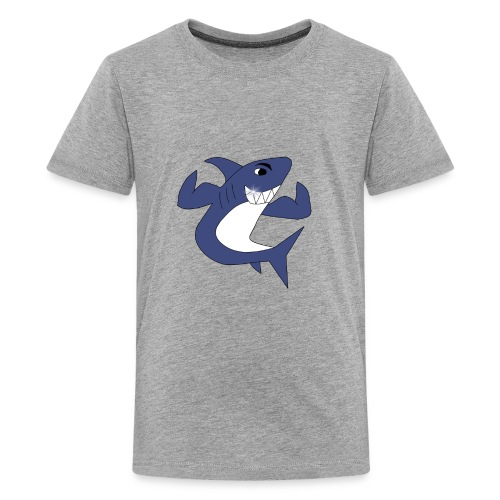 Sharky with Muscles - Kids' Premium T-Shirt