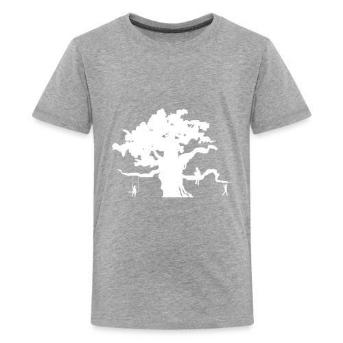 WD icon white - Kids' Premium T-Shirt