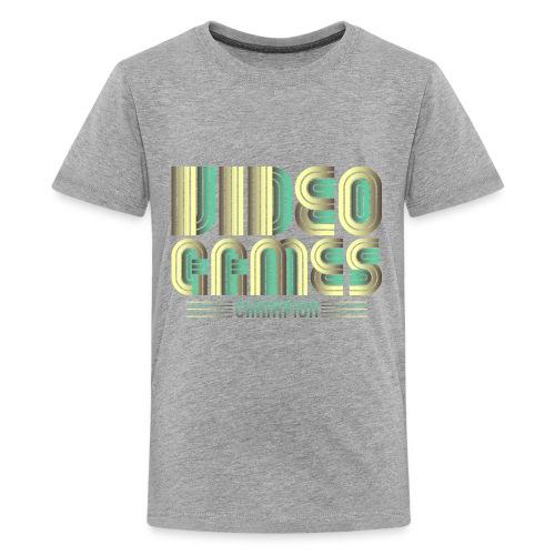 Video Games Champion Logo Symbol - Kids' Premium T-Shirt