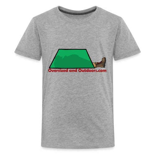 Oversized and Outdoors Logo - Kids' Premium T-Shirt