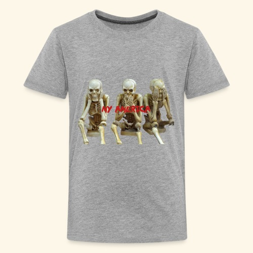 My America See No Evil Skeletons - Kids' Premium T-Shirt