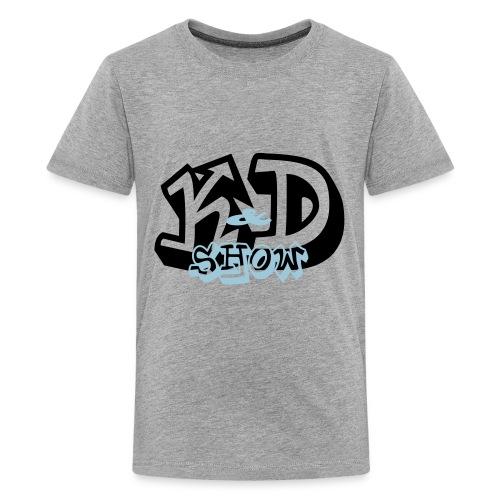 K&D Logo Black on Light Blue - Kids' Premium T-Shirt